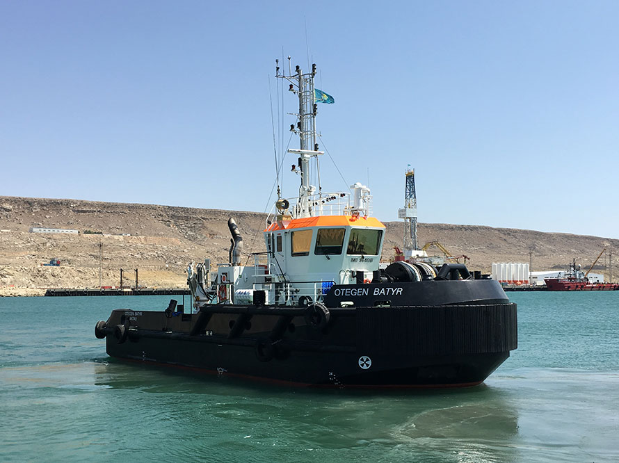 "The last of the six ""Batyr"" tugs successfully arrived in Kazakhstan!"