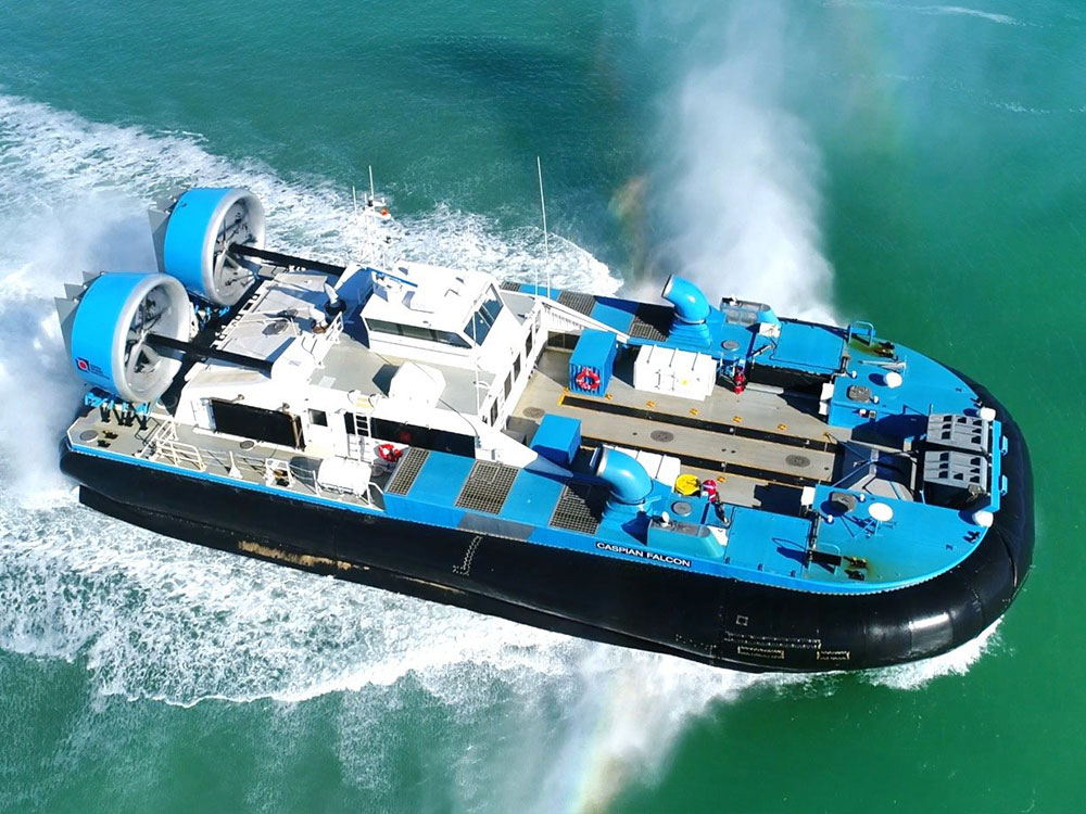 Hovercraft Caspian Falcon has commenced operations at the North Caspian Project